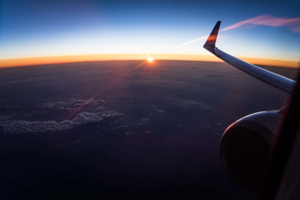 Sunset view from an airplane - Leadership Mentoring by The Game Changers